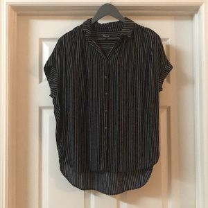 Madwell Pinstripe Central Drapey Shirt Size Medium